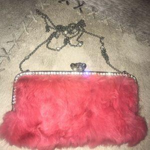 Vintage Juicy Couture Purse with Rabbit fur